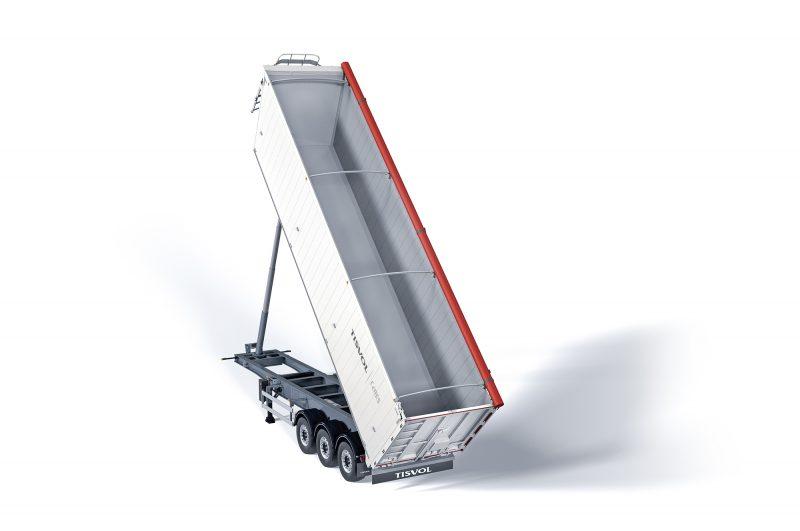 El semirremolque basculante Ceres es nuestro vehículo más rentable y especialista en graneles ligeros y palets
