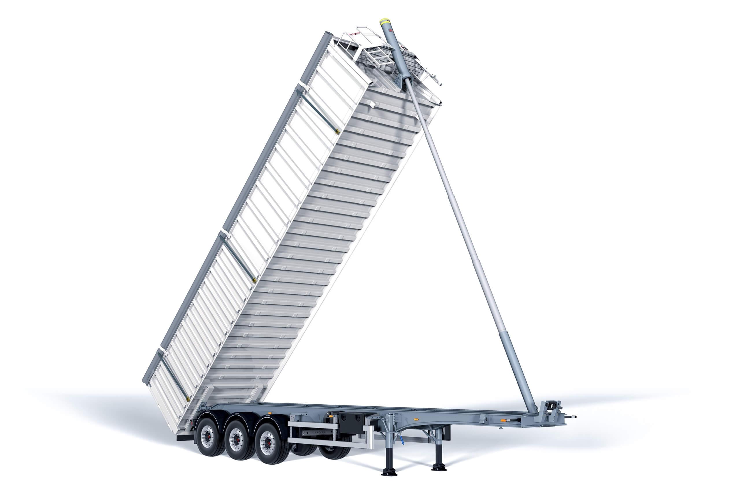 El semirremolque basculante Metal es nuestro vehículo especialista en chatarra fragmentada