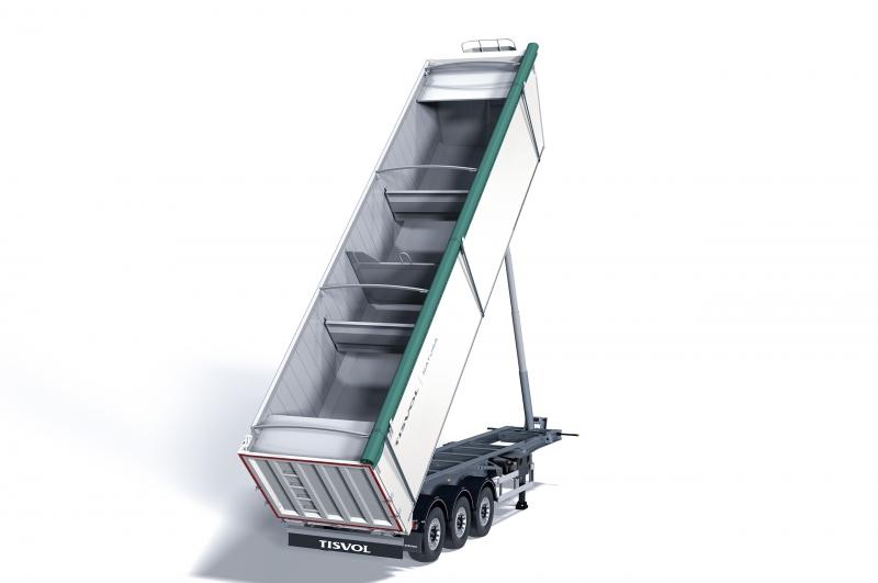 El semirremolque basculante Natura es nuestro vehículo especialista en transporte de residuos animales