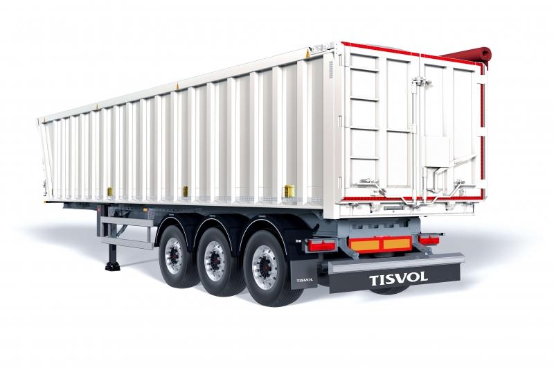 El semirremolque basculante Solid es nuestro vehículo especialista en graneles medianos