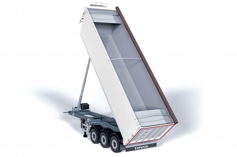 El semirremolque basculante Organic es nuestro vehículo especialista en transporte de residuos