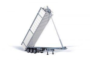 Metal es la gama de semirremolques basculantes de aluminio pensado para el transporte de chatarra fragmentada