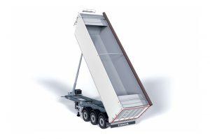 Los semirremolques basculantes de aluminio Organic están pensados para el transporte de residuos